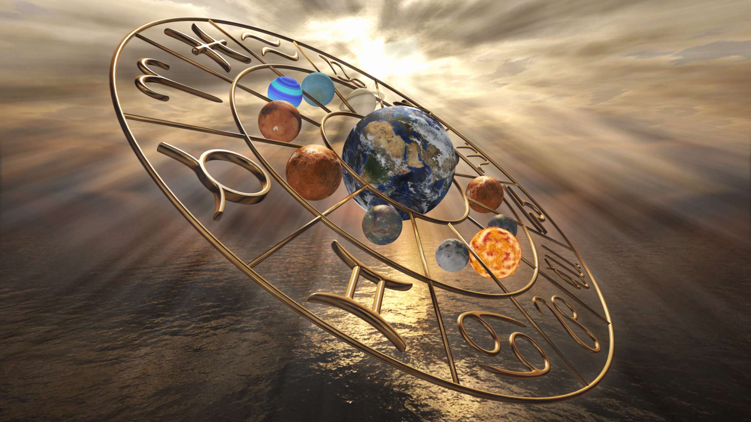 Mystic Golden Zodiac